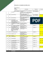 Planificación 2013 Arreglos