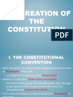 creation of the constitution