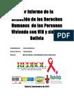 1er Informe Situación de Los DDHH de Personas Con VIH en Bolivia