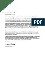 fuchs chelseas recommendation letter