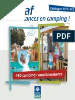 Catalogue Campings VACAF 2015