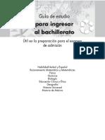 Guia de Estudio Para Ingresar Al Bachillerato