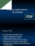 Análisis Cefalométrico Ricketts