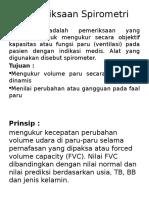 Pemeriksaan Spirometri