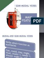 Modal and Semi Modal Verbs