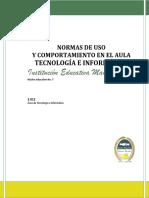 Normas de Uso y Comportamiento en El Aula de Tecnologia e Informatica Grado 11