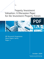 Issues in Property Investment Valuation- A Discussion Paper (October 2009) Short Paper