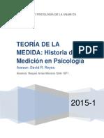 Historia de La Medicion en Psicologia