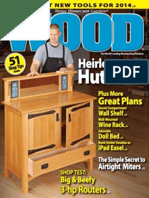 Wood Magazine January 2014 Usa Pdf Woodworking Wood