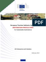 ETIS Toolkit Destination Profile Form