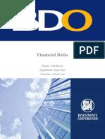 MGT 5- Financial Ratio (BDO)