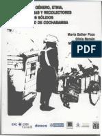 Ciudadanía, Género, Etnia y recolectoras/es de Desechos Sólidos en la Ciudad de Cochabamba.