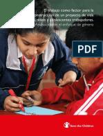 El trabajo como factor para la construcción de un proyecto de vida de niñas, niños y adolescentes trabajadores. Análisis desde el enfoque de género