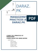 Management Practices at Daraz.pk
