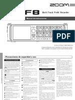 Zoom F8 Multitrack Field Recorder (Manual de Instrucciones)