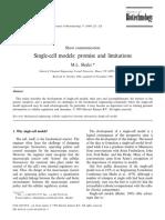 Single Cell Models, Shuler 1999