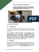 Informe Topografico San Isidro Curvo - Cerro Blanco