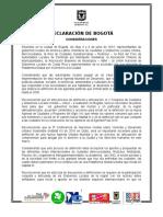 Declaracion de Bogotá Junio 5 de 2015