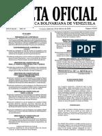 Gaceta Oficial Número 40.845 de la República de Venezuela, 10 de febrero de 2016