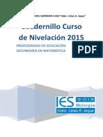 Cuadernillo2015 Profesorado de Educacion Secundaria en Matematica
