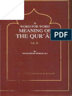 A Word For Word Meaning Ot The Quran-Part 2