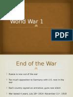 world war 1 beginning