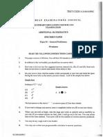 Add Maths 2012 5FP1 Specimen