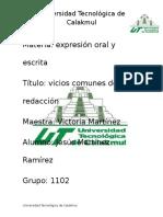 Materia Expresion Oral y Escrita 1
