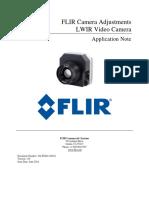 Flir Camera Adjustments