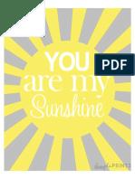 84217074 Sunshine Prints by Dimple Prints