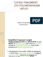 Amplified Fragment Length Polymorphism (Aflp)