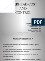 Overhead Cost and Control