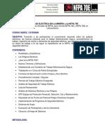 Seguridad Eléctrica y NFPA 70E Antof. 20