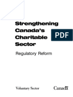Strengthening Canadas Charitable Sector
