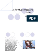 Photos for Music Magazine Cover