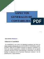 Aspectos Generales de Contabilidad