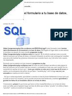 Insertar Datos Del Formulario a Tu Base de Datos, En Php _ Programar en PHP