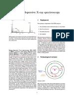 Energy Dispersive X Ray Spectroscopy