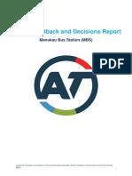 Manukau Bus Station Consultation Report