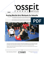 Scoring Martial Arts Workout for Intensity