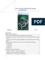 Cable Selection - Cable Selection in Small Off-grid Solar Energy Installations