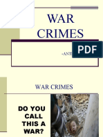 WAR CRIMES Presentation