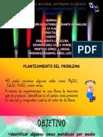 IDENTIFICACIÓN DE CATIONES MEDIANTE EL ANÁLISIS A LA FLAMA