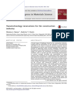 Nanotechnology Innovations for the Construction Industry