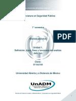 Unidad 1. Definicion Tipos Fines y Funciones Del Analisis Delictivo