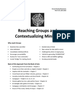 Reaching Groups and Contextualizing Ministry (Baylon)