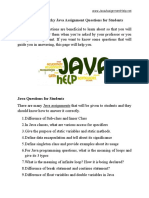 List of 100 Tricky Java Assignment Questions for Students