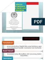 PANCASILA  SEBAGAI PARADIGMA  IMPLEMENTATIF  PENDIDIKAN BUDI PEKERTI DAN DEMOKRASI DI INDONESIA