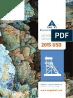 ALS Geochemistry Service Schedule 2015 USD