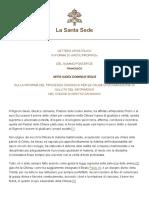 Papa Francesco Motu Proprio 20150815 Mitis Iudex Dominus Iesus